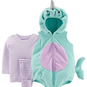 12M Carter's narwhal costume